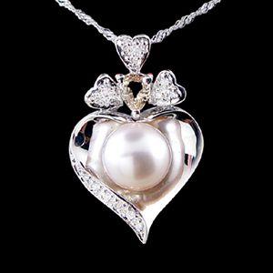 甜蜜心事-珍珠墜子