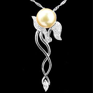 盛開-珍珠墜子