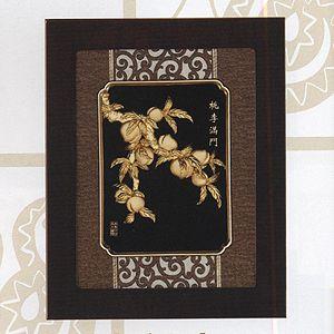 桃李滿門-立體金箔畫