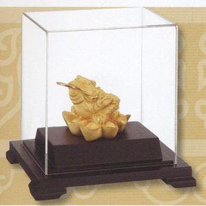招財金蟾-立體金箔畫-絨沙金