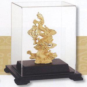祥龍獻瑞-立體金箔畫-絨沙金