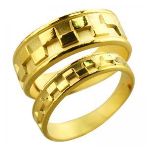堆積情感-黃金結婚對戒
