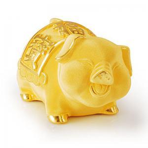 開心福寶豬(6錢)-金飾禮品
