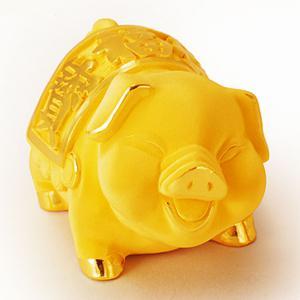 開心福寶豬(7錢)-金飾禮品