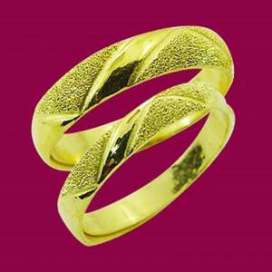 愛相隨-黃金結婚對戒
