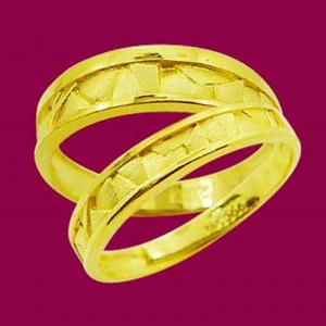 堅固堡壘-黃金結婚對戒