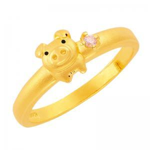 蜜蜜豬-黃金戒指