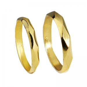 形影不離-黃金結婚對戒