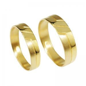 默契如你-黃金結婚對戒