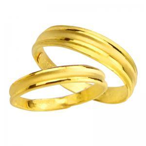 簡約-黃金結婚對戒