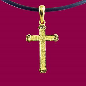 恩典-黃金十字架金飾墜鍊
