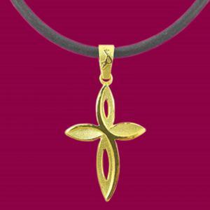 甜蜜誓言-黃金十字架金飾墜鍊