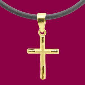 祝福-黃金十字架金飾墜鍊