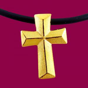 禮讚-黃金十字架金飾墜鍊