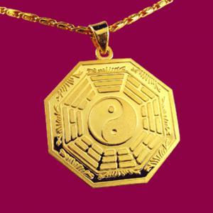 八卦墜-黃金八卦金飾墜鍊