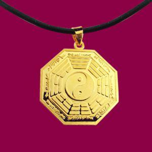 平安墜(約5錢)-黃金八卦金飾墜鍊