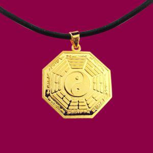 平安墜(約3錢重)-黃金八卦金飾墜鍊