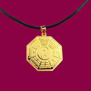 平安墜(約2錢)-黃金八卦金飾墜鍊