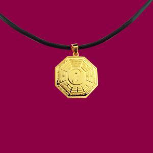 平安墜(約1錢)-黃金八卦金飾墜鍊