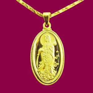 滴水觀世音(約5.05錢)-黃金觀音金飾墜鍊