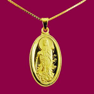 滴水觀世音(約3.15錢)-黃金觀音金飾墜鍊