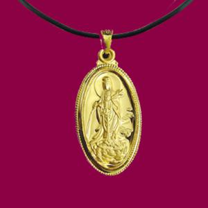 滴水觀世音(約3錢)-黃金觀音金飾墜鍊