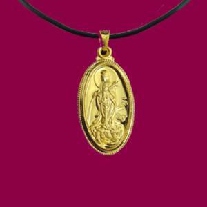 滴水觀世音(約2錢)-黃金觀音金飾墜鍊