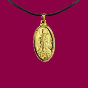 滴水觀世音(約1錢)-黃金觀音金飾墜鍊