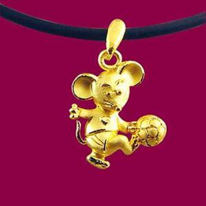 貝克漢金鼠-十二生肖金飾墜鍊