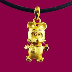 可愛鼠-十二生肖金飾墜鍊
