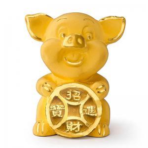 超迷你招財豬-黃金金飾禮品