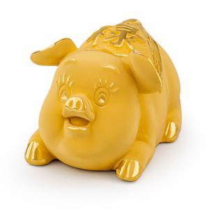 俸祿豬-黃金金飾禮品