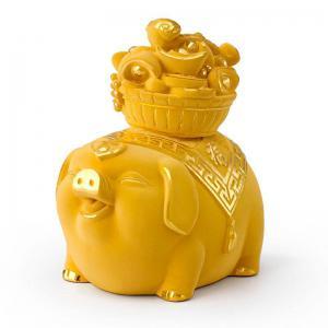 聚寶豬-黃金金飾禮品