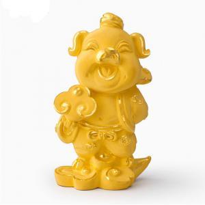 雲遊四海豬-黃金金飾禮品