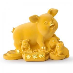 合家歡豬-黃金金飾禮品