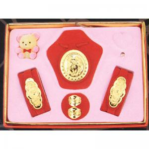 橢圓型五件式(約0.7錢)-黃金彌月套組