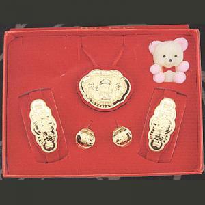 鎖片型五件式(約0.5錢)-黃金彌月套組