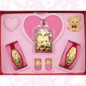 福袋型五件式(約0.7錢)-黃金彌月套組