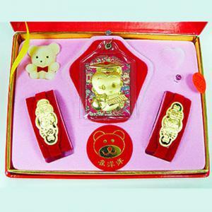 福袋型三件式(約0.5錢)-黃金彌月套組