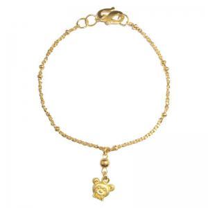 立體熊寶貝-黃金彌月金飾