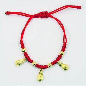 旺旺來彌月手鍊-黃金彌月金飾
