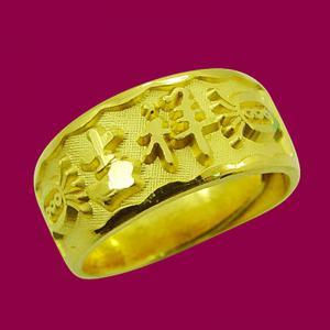 吉祥戒(約2.06錢)-黃金祝壽金飾