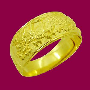 祥龍戒-黃金祝壽金飾