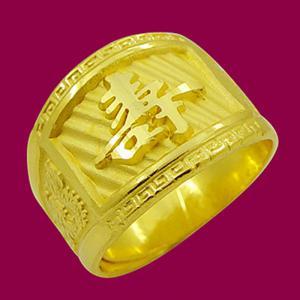 長壽戒-黃金祝壽金飾