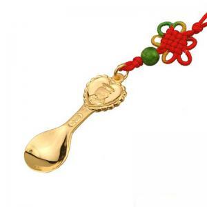 小博士金湯匙墜-黃金彌月金飾