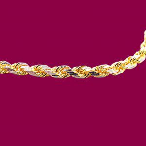 雙色正索鍊-義大利金項鍊
