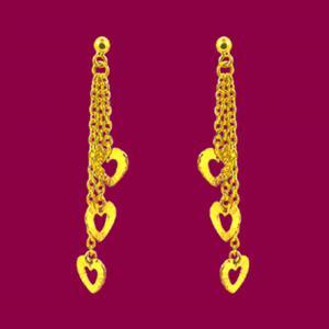 愛戀-黃金耳環