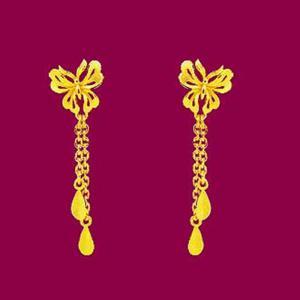 蝴蝶夢-黃金耳環