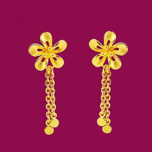 花言巧語-黃金耳環
