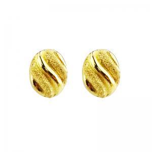 圓融-黃金耳環